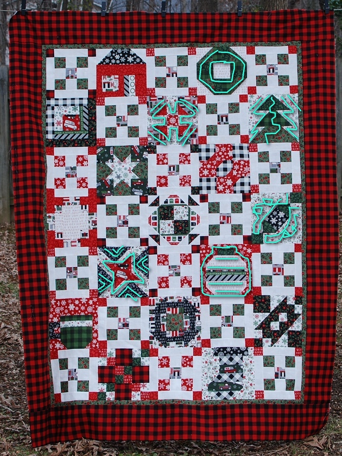 Pat Sloan Merry and Bright quilting lines
