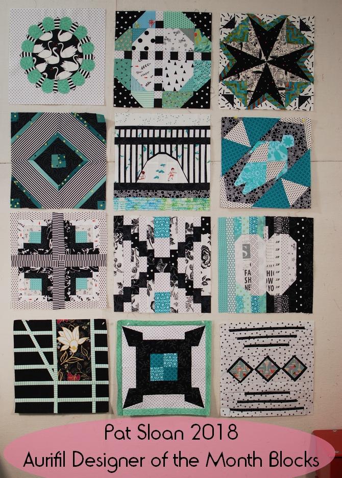 Pat Sloan 2018 Aurifil Designer of the month blocks