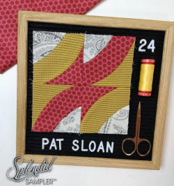Pat Sloan Splendid Sampler 2 block 24