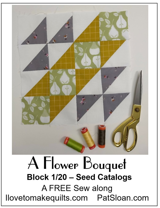 Pat Sloan Block 1 A Flower Bouquet banner