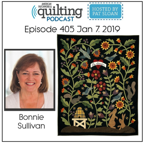 American Patchwork Quilting Pocast episode 405 Bonnie Sullivan