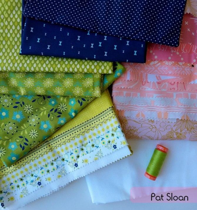 Pat Sloan 2019 Aurifil fabrics