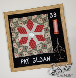 Pat Sloan Splendid Sampler 2 block 38 jane light