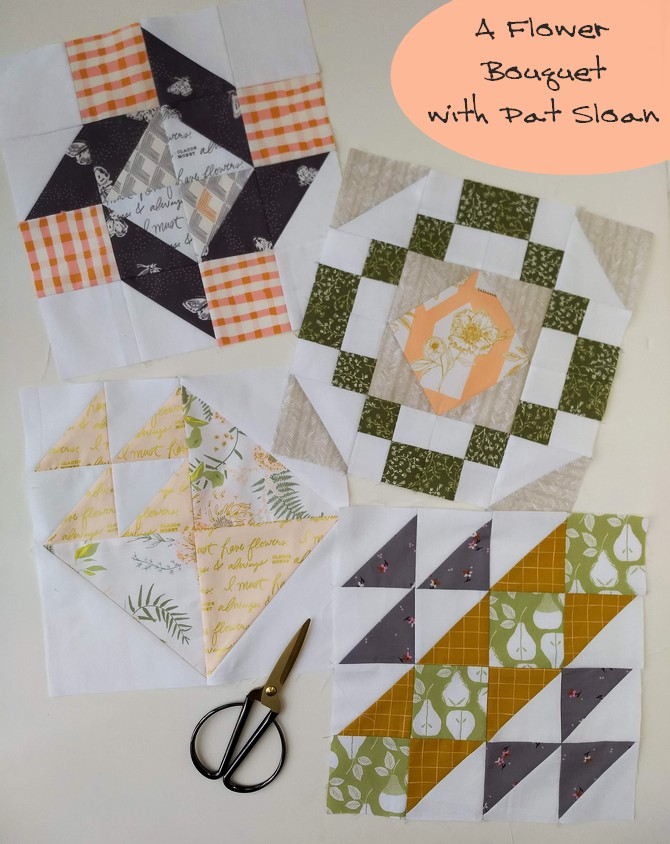 Pat Sloan a flowr bouquet Block 1 to 4