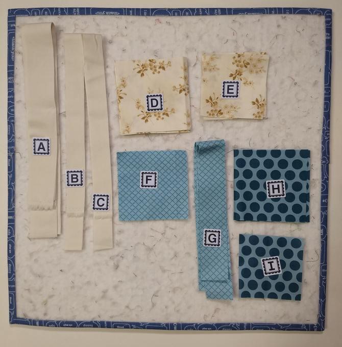 Pat Sloan Christmas figs blue block 12 pic 2