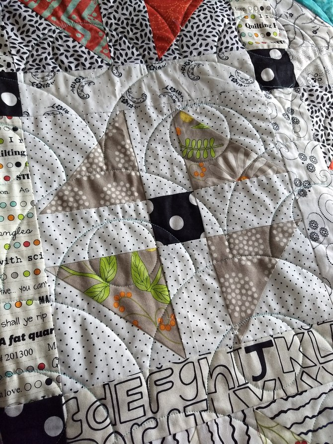 Scrap happy shoofly quilting