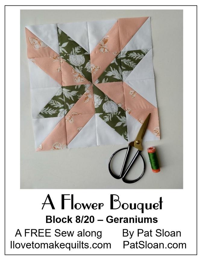 Pat Sloan Block 8 A Flower Bouquet button