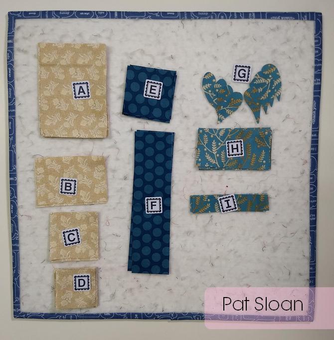 Pat Sloan Christmas figs blue block 13 pic 3