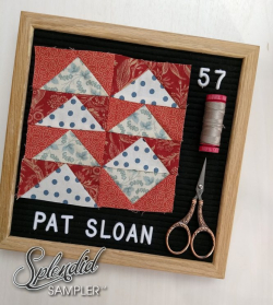 Pat Sloan Splendid Sampler 2 block 57