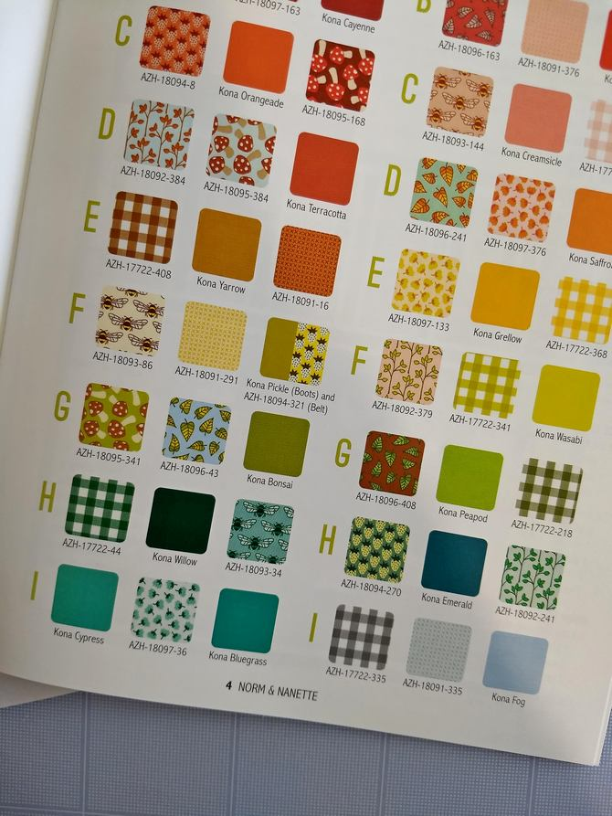 Pat Sloan Norm and Nanette  color chart