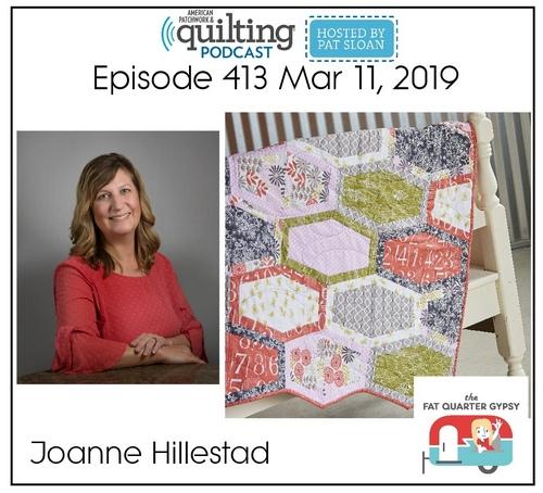 American Patchwork Quilting Pocast episode 413 Joanne Hillestad