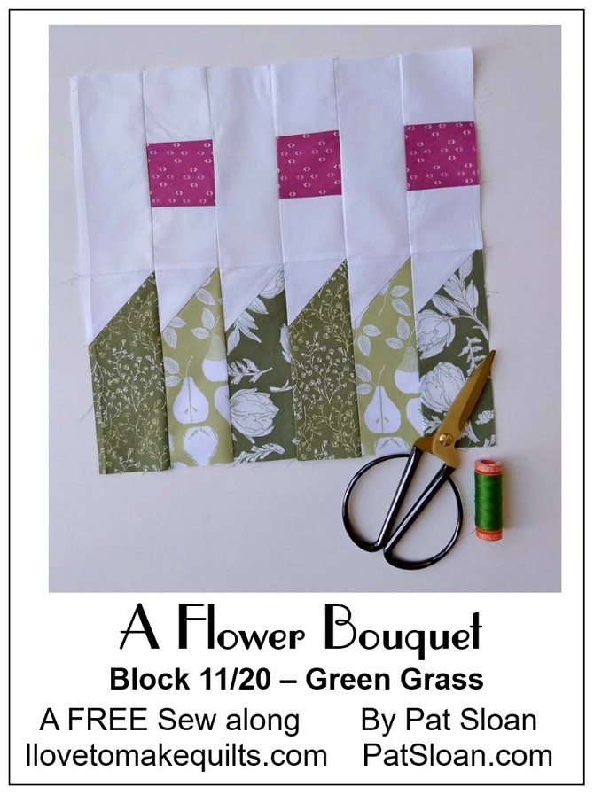 Pat Sloan Block 11 A Flower Bouquet button