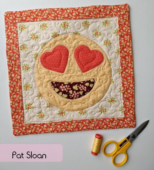 Pat Sloan Sew-emoji pillow 1