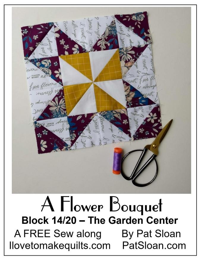 Pat Sloan Block 14 Flower Bouquet button