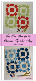 Pat Sloan Figtree Christmas sew along block 16