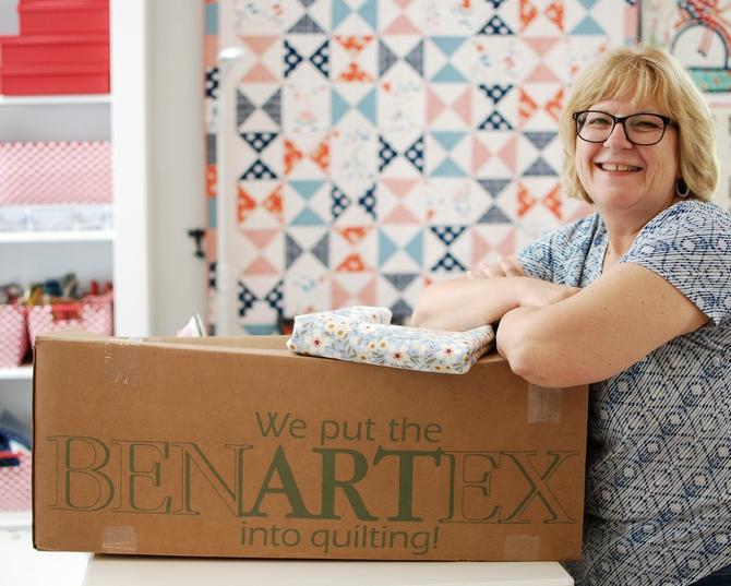 Pat sloan and Benartex box