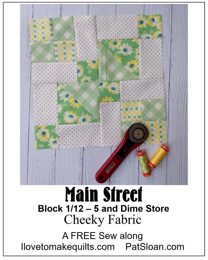 Pat Sloan Main Street cheeky block 1 button