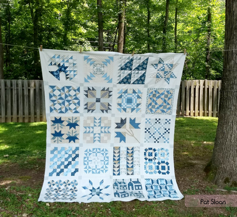 Pat Sloan Christmas Fig blue quilt 2