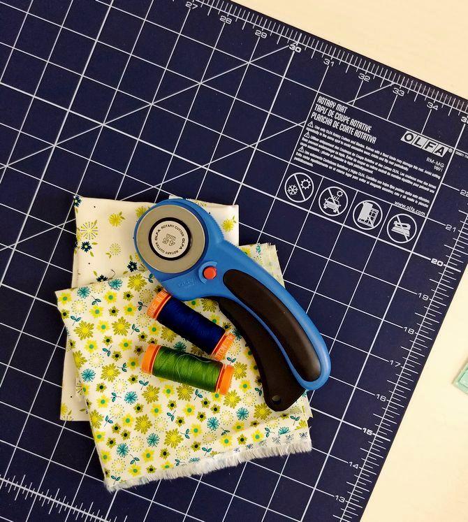Pat Sloan Aurifil DOM block fabric