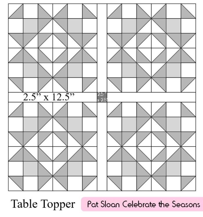 Pat sloan table topper