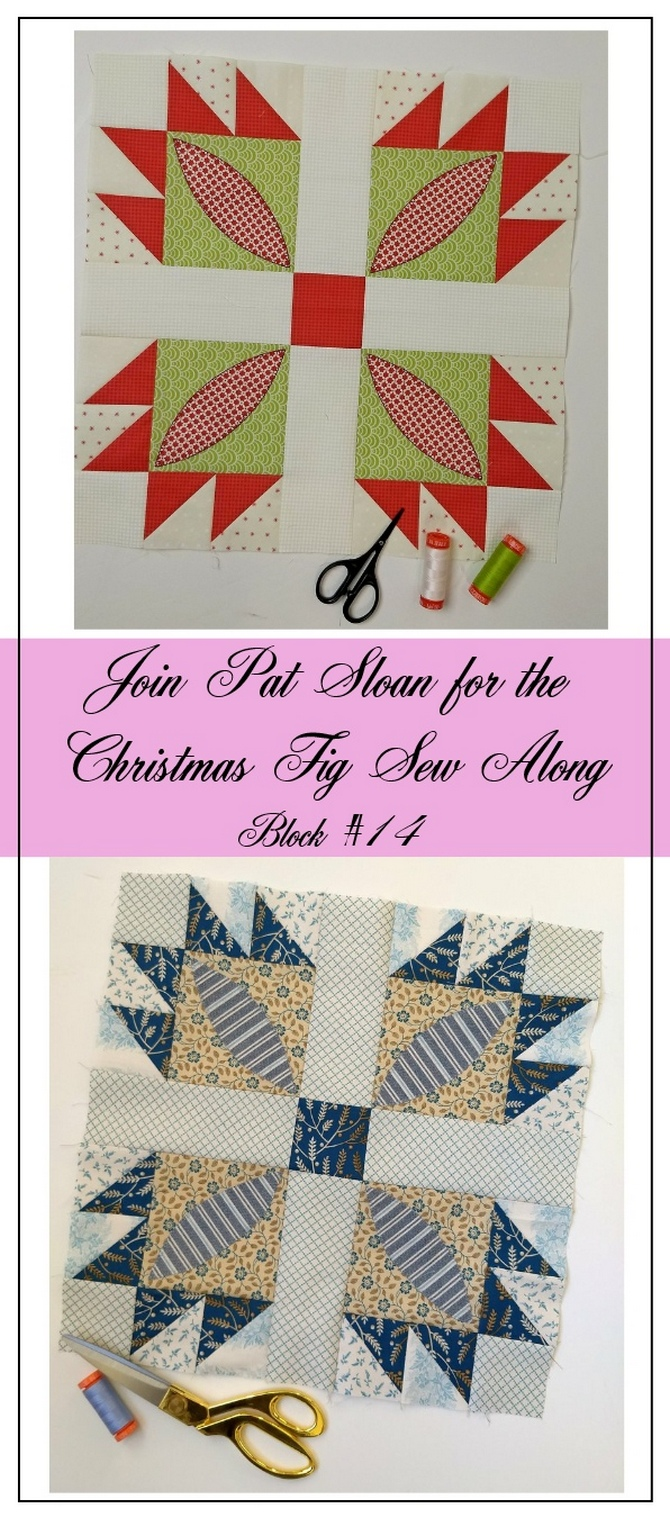 Pat Sloan Figtree Christmas sew along block 14