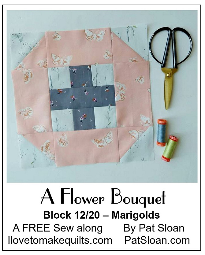 Pat Sloan Block 13 A Flower Bouquet button