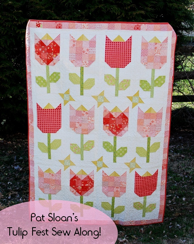 Pat sloan seasons book tulip fest sew along