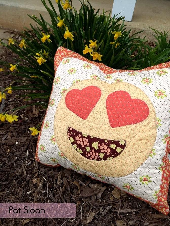 Pat Sloan Sew-emoji pillow 3