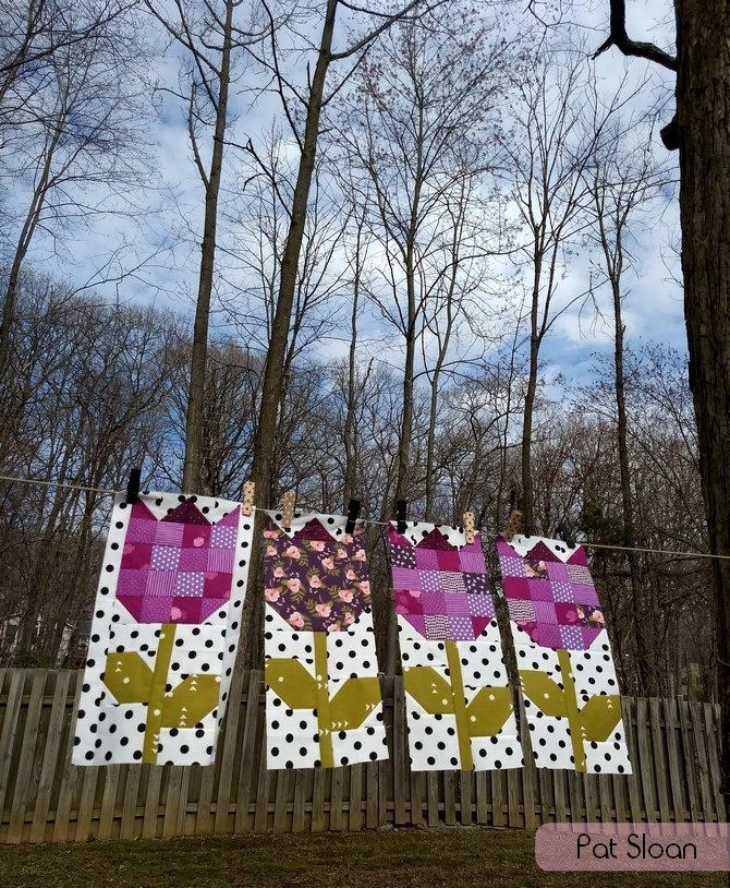 Pat Sloan Tulipfest Sew along pic 3