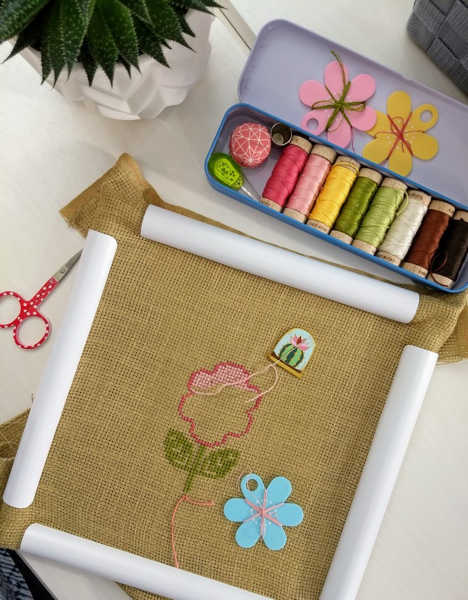Pat Sloan Cross stitch  flower pic 2