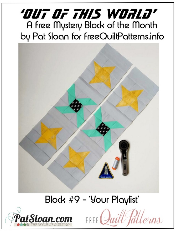 Pat Sloan Out of this World block 9 button