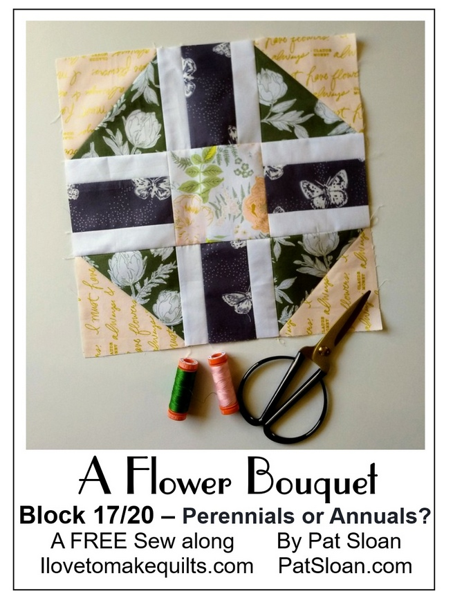 Pat Sloan A flower Bouquet block 17 button