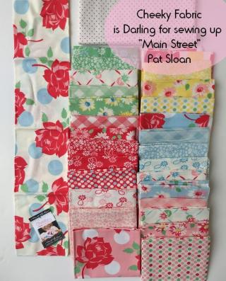 Pat Sloan Main streen sew along cheeky fabric