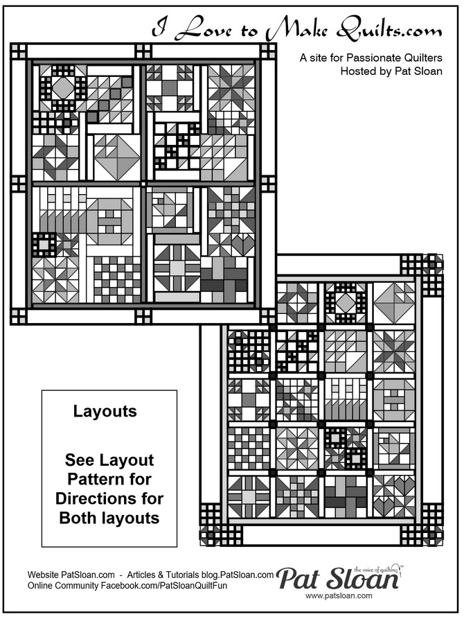 Pat Sloan Block 20 A Flower Bouquet layouts