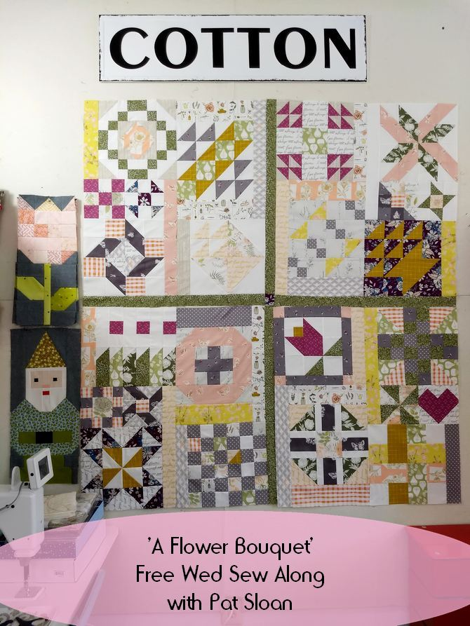 Pat Sloan A flower Bouquet blocks 1 to 20