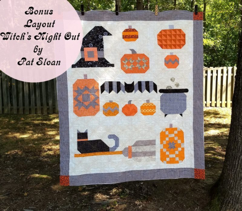 Pat sloan witchs night out final bonus quilt bonus layout