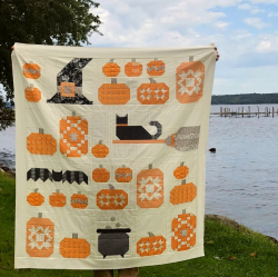 Pat sloan witchs night out final quilt