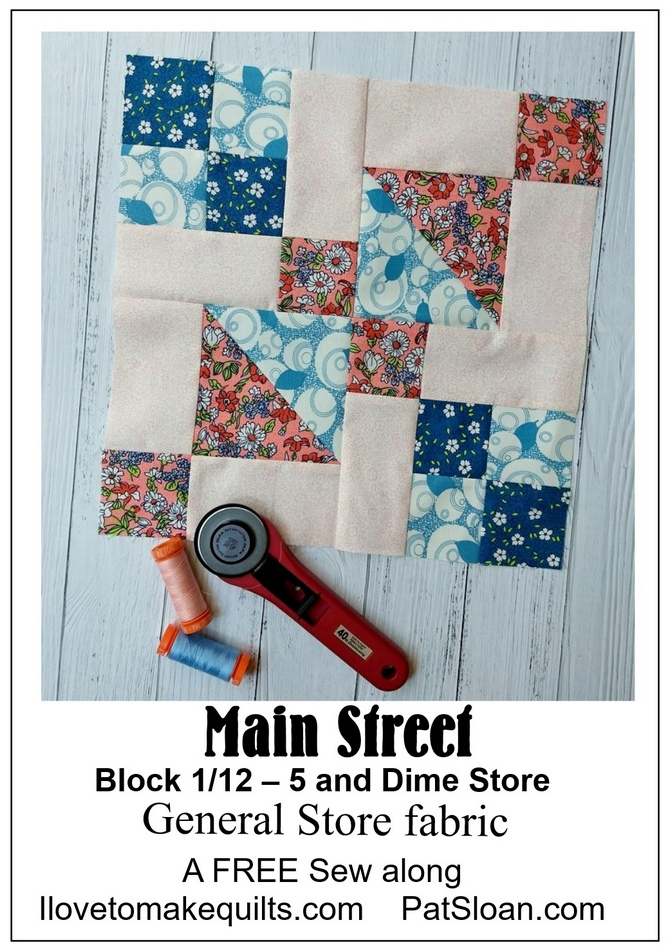 Pat Sloan Main Street general store block 1 button