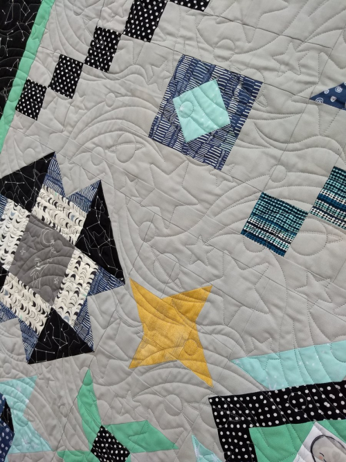 Pat sloan out of this world full quilt close up