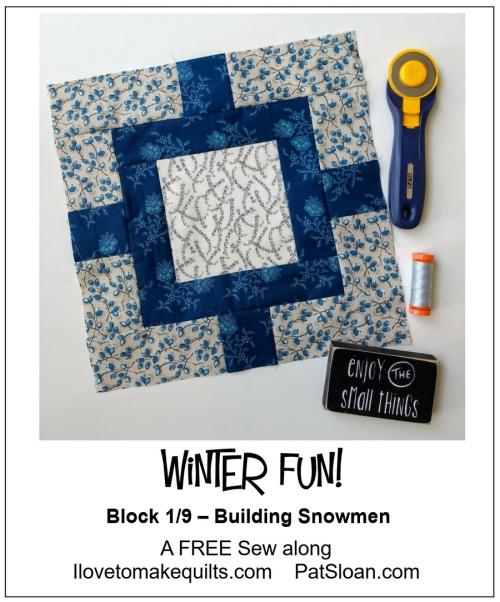 Pat Sloan Block 1 Winter Fun banner