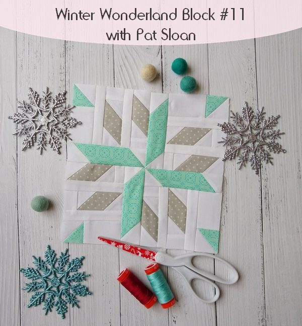 Pat sloan winter wonderland block 11 button