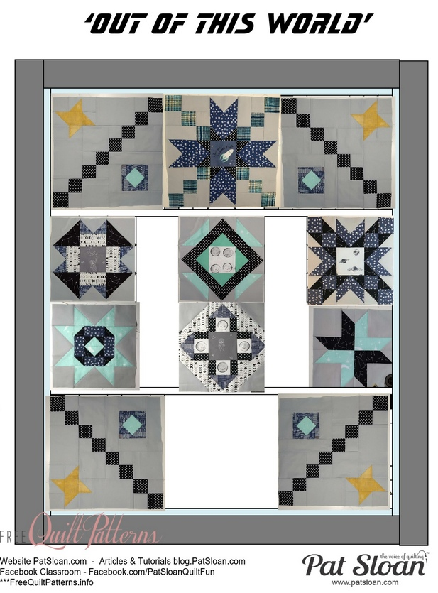 Pat Sloan Out of this World layout block 8 pattern