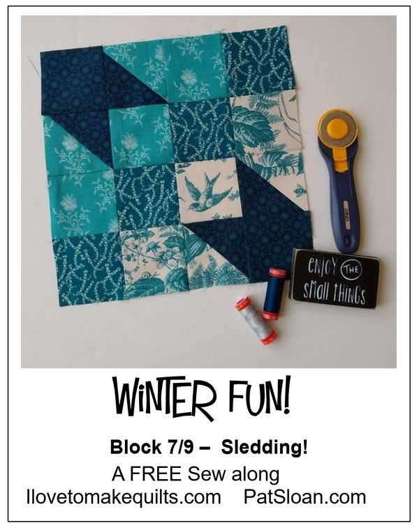 Pat sloan winter fun block 7 button