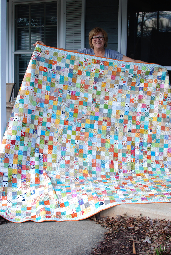Pat sloan multi 2 inch square quilt pic 1