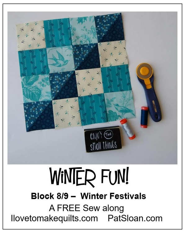 Pat sloan winter fun block 8 button