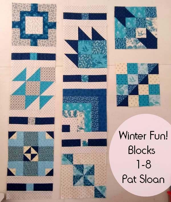 Pat sloan winter fun block 1 to 8