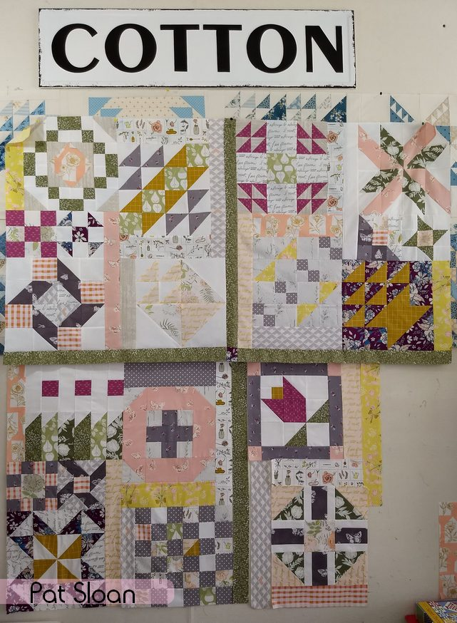 Pat Sloan A flower Bouquet block 1 to 17
