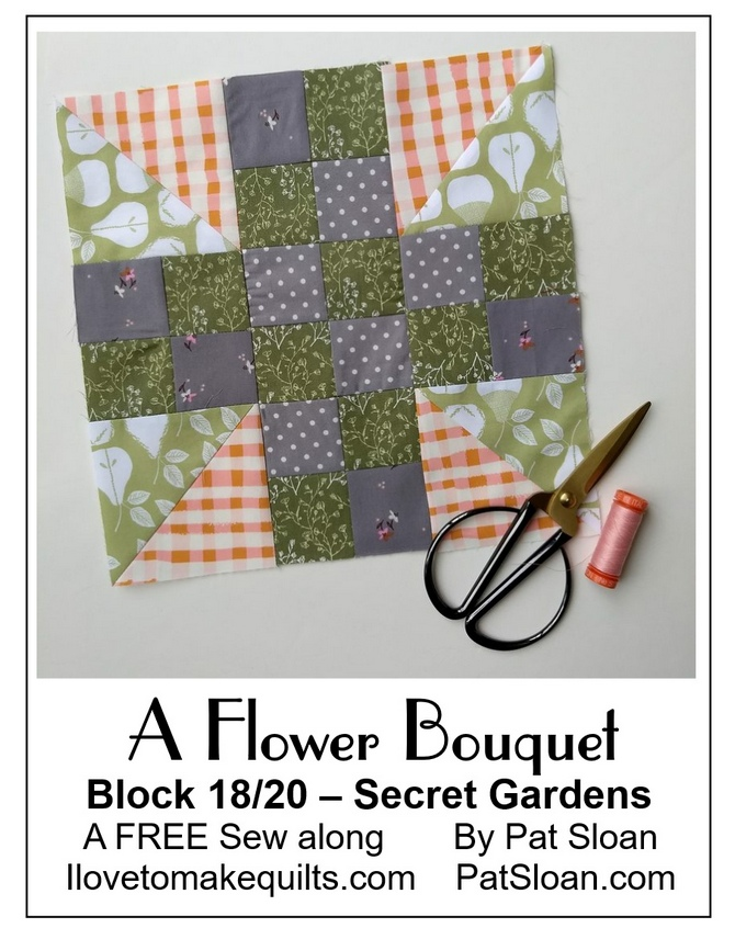 Pat Sloan A flower Bouquet block 18 button