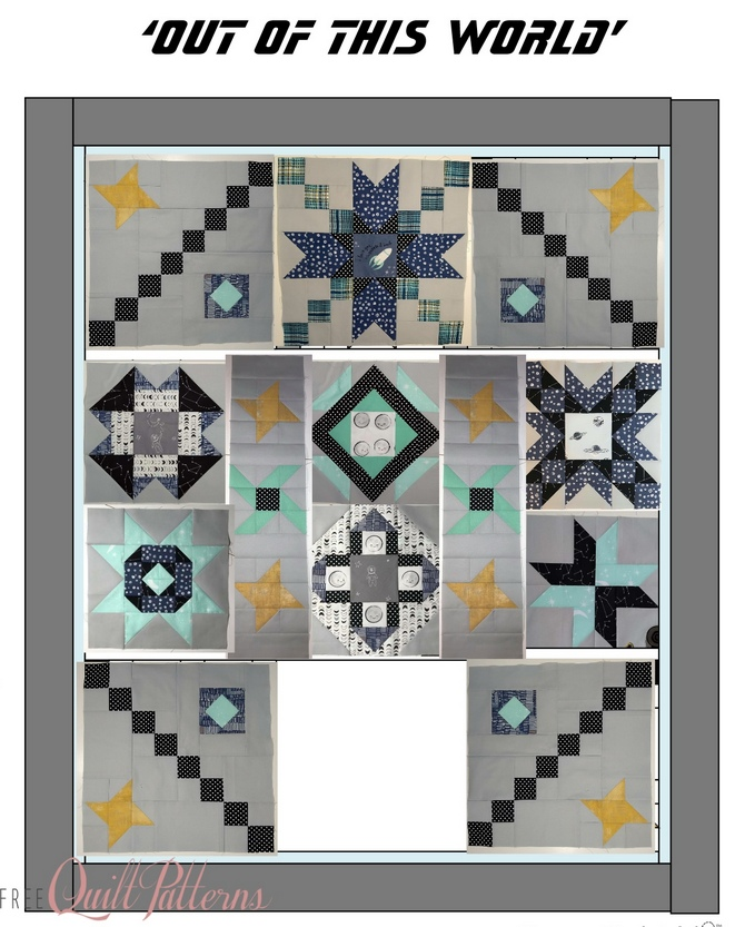 Pat Sloan Out of this World layout block 9 pattern