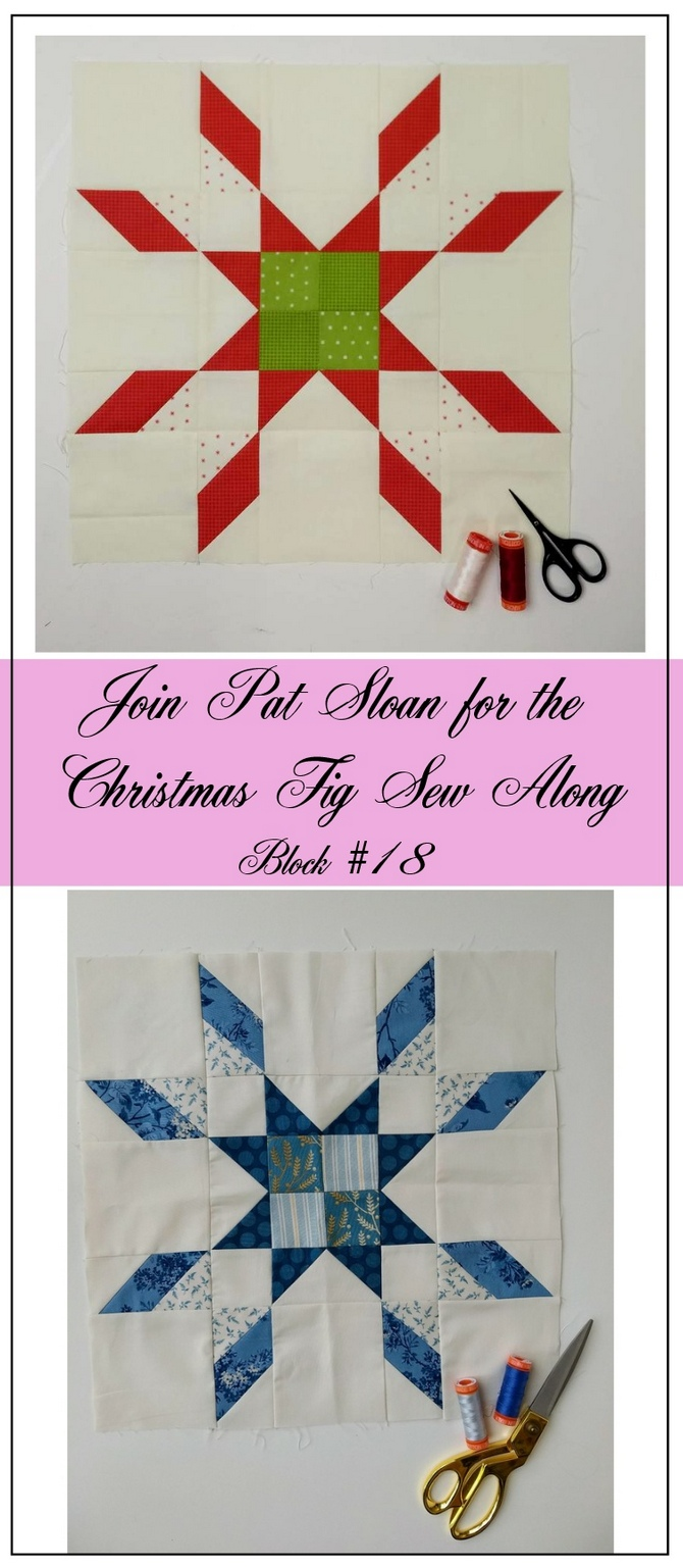 Pat Sloan Figtree Christmas sew along block 18